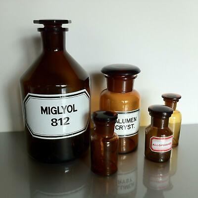 (b50) Braune Apothekerflaschen Apotheke Arzt Vorrat Tee 1000ml 250ml 50ml 3