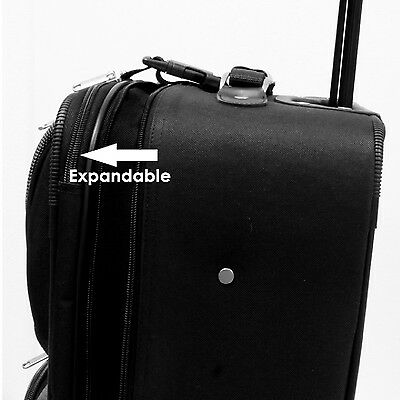 Amsterdam 2pc Carry-on Expandable Rolling Luggage Suitcase Tote Bag Travel Set 3