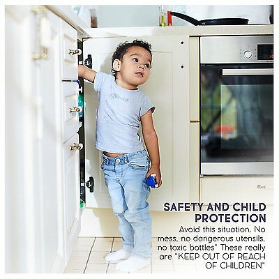 Invisible Safety Baby Magnetic Cupboard Drawers Lock Door Child Baby Pet Proof 5