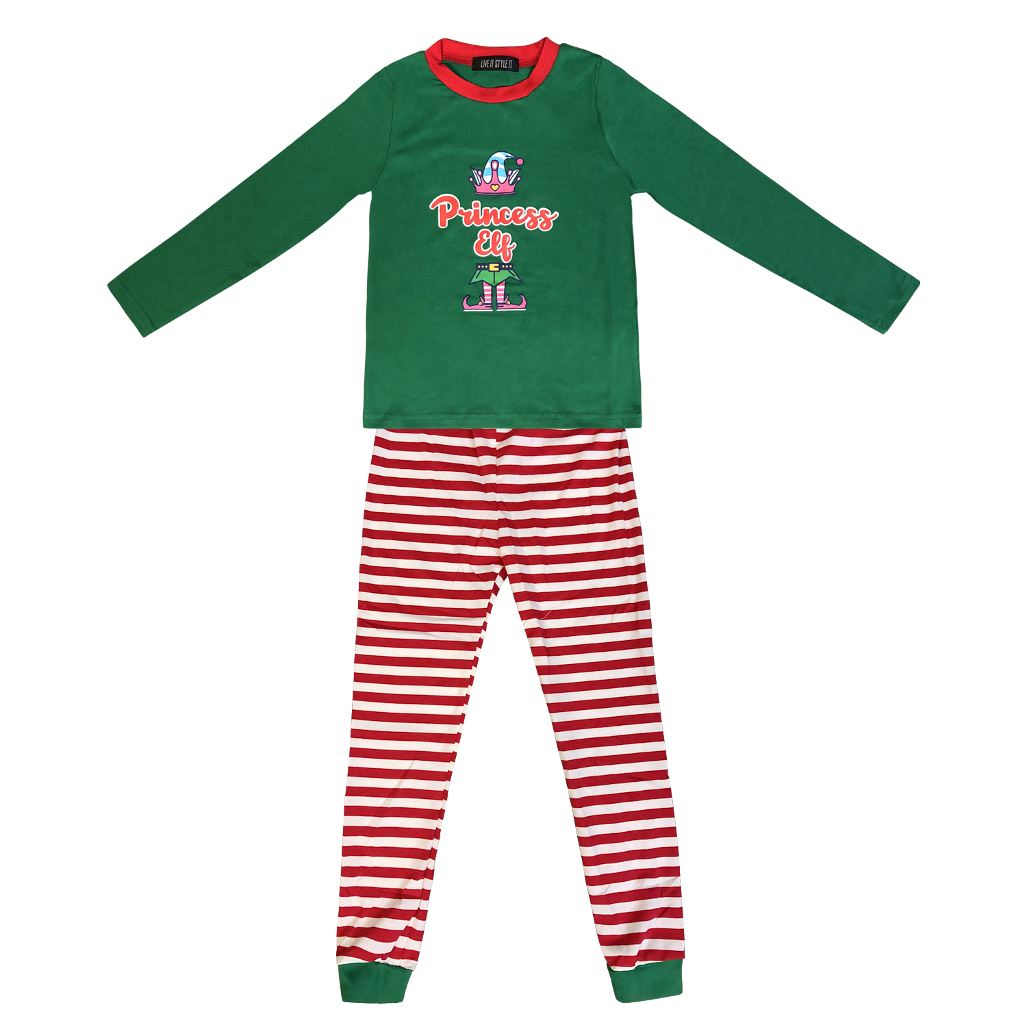 Family Matching Christmas Pyjamas Elf Pajamas Kids Boys Xmas Pjs Girls Nightwear 5