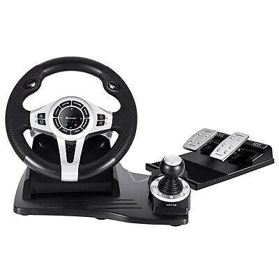Lenkrad 4 in 1 für PC/PS3/PS4/Xone 2-Pedalset Ganghebel 270-Grad-Rotati 2