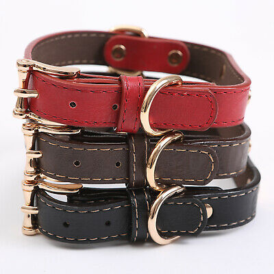 PU Personalized Dog Collars Name ID Collar with Nameplate Engraved XS-XL 4