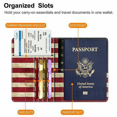 RFID Blocking Passport Holder ID Card Travel Wallet Organizer Cover Case 8