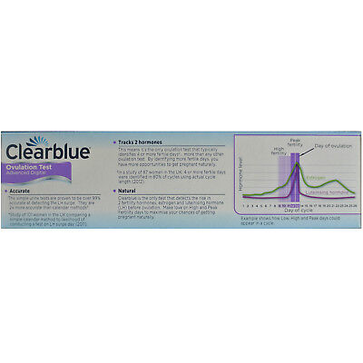 CLEARBLUE Advanced Digital Ovulation Test With Dual Hormone Indicator 10 Tests 2