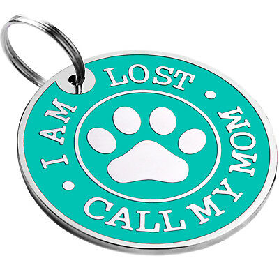 Dog ID Tag Free Custom Personalized Engraved Enamel Pet Puppy Cat Name Charm S L 8