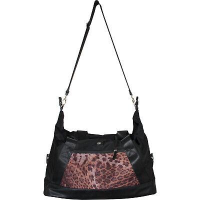Roberto Cavalli CLASS weekend travel bag duffle bag of black nylon leopard print 3