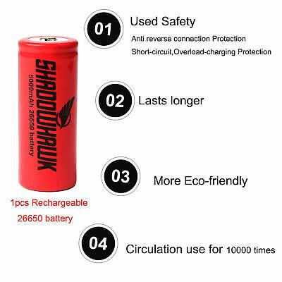 Super-bright 90000lm flashlight CREE LED P70 Tactical torch USB +5000mAh battery 11