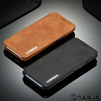 For Galaxy Note 10/9/8 S10/S9 Plus Leather Wallet Stand Thin Slim Case Cover 10