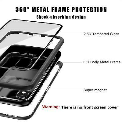Magnetic Tempered Glass Case Cover Samsung Galaxy S8 S9 S10 Plus S10E Note 8 9 9