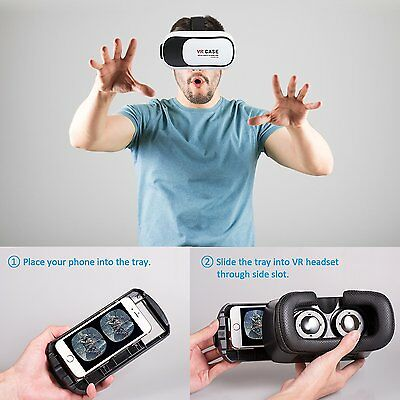 Virtual Reality VR Headset 3D Glasses With Remote for Android IOS iPhone Samsung 6