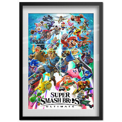 Super Smash Bros Ultimate Poster - Official Art - High Quality Prints 2