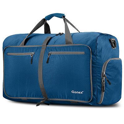 Gonex 80L Travel Duffle Bag Foldable Tear Resistant Carry-On Luggage Bag Storage 8