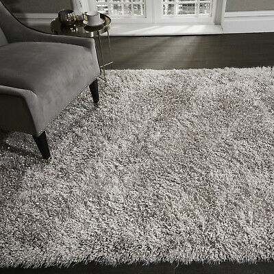 5.5cm Silver Grey Large SHAGGY Floor RUG Soft SPARKLE Shimmer Glitter Thick Pile 3