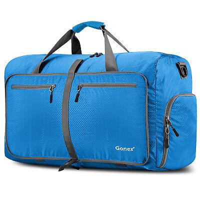 Gonex 80L Travel Duffle Bag Foldable Tear Resistant Carry-On Luggage Bag Storage 3