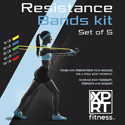 XPRT Fitness 11 PCS Resistance Bands Set Home Gym Exercise Tube Bands Training 6