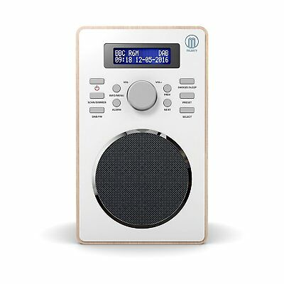 Majority Barton Compact Digital DAB+ DAB FM Radio Wood Effect Alarm Clock 3