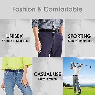 JASGOOD Men Elastic Belt Braided Canvas Stretch Belt for Causal Jeans Pants 276 8