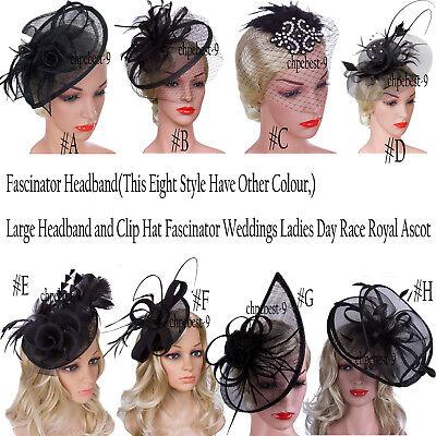 Fascinator Headband 1920s Flapper Headpiece Great Gatsby Vintage Style Tea Dress 2