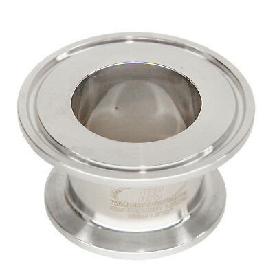 """HFS(R) 1.5"""" X 2"""" Sanitary Concentric Reducer - Tri Clamp Clover Stainless Steel"""