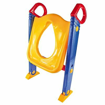 Baby Toddler Training Toilet Seat Safety Potty Step Ladder Loo Trainer System 4