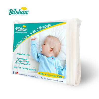 "Baby Newborn Pillow with Cotton Pillowcase Suitable for Infant Toddler 14""x19"" 8"