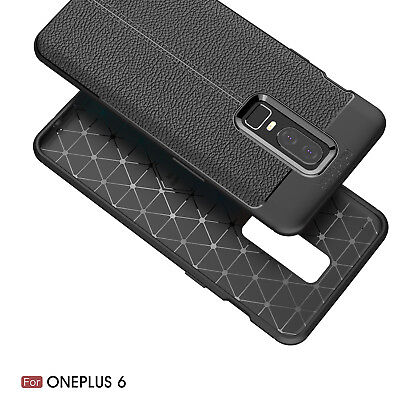 Dooqi Ultra Thin Luxury PU Leather Soft TPU Shockproof Case Cover For OnePlus 6 2