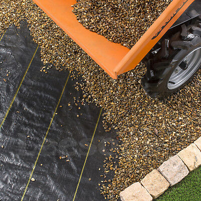 4m Extra Heavy Duty garden weed control fabric ground cover membrane landscape 9