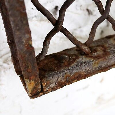 Antique Primitive Industrial Woven Wire Window Security Guard 10