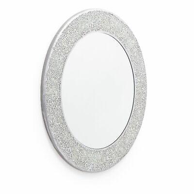 Silver Mosaic Mirror. Wall Mounted Mirror. High Shine Crackle Effect 40 x40cm 3