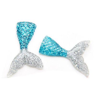 10pcs/lot kawaii resin mermaid tail DIY flatback resin cabochons accessories 4