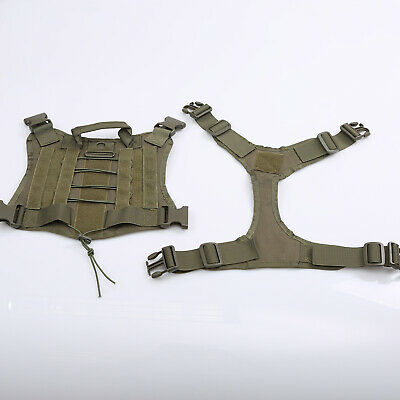 US Police K9 Tactical Training Dog Harness Military Adjustable Molle Nylon Vest 12