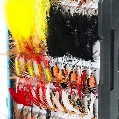 Luftschlangen Nymphen MAXIMUMCATCH Fliegenfischen Fliegen mit Fliegenbox Kombi Trocken- // Nassfliegen handgefertigte Fliegenfischerk/öder
