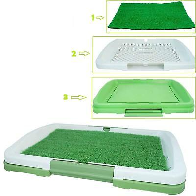 PET Dog Toilet Mat Indoor Restroom Training Grass Potty Pad Loo Tray Large Puppy 3