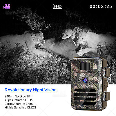 16MP Trail Camera IP66 Waterproof Outdoor Hunting Cam with No Glow Night Vision 3