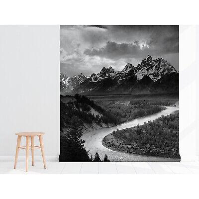 Fabelhafte VLIES FOTOTAPETE XXL Berge Schwarz Weiß NATUR 9534 Wohnzimmer