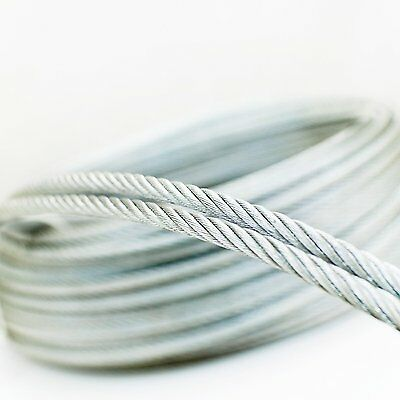 20m c/âble acier inox 3mm cordage torons 7x19
