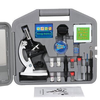 Kids 52-Piece Beginners Kids Microscope Kit Educational Learning Science 1200X 10