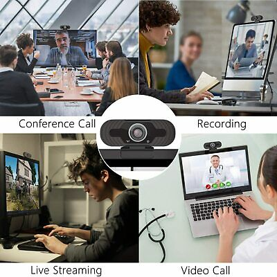 Full HD 1080P Webcam With Microphone USB For PC Desktop Laptop NEW UK Stock 12