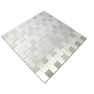 SELBSTKLEBENDE METALL EDELSTAHL Mosaik Fliesen Silber Mix | Bad WC ...