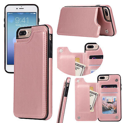 Dooqi Leather Wallet Case Card Slot Flip Cover For Apple iPhone 8/iPhone 8 Plus 8