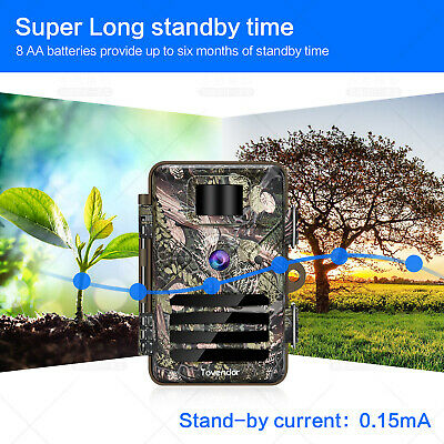 16MP Trail Camera IP66 Waterproof Outdoor Hunting Cam with No Glow Night Vision 6