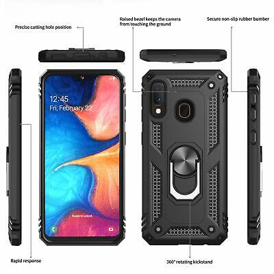 For Samsung Galaxy A20 A50 A70 A10e Shockproof Case 360 Magnetic Ring Armour 2
