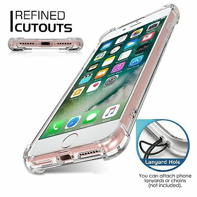 For Apple iPhone X/8/7 Plus Ultra Thin Transparent Clear Shockproof Bumper Case 5