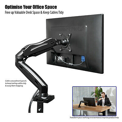 Fully Adjustable Single Arm Monitor Mount | Desk Stand Bracket with Clamp 6