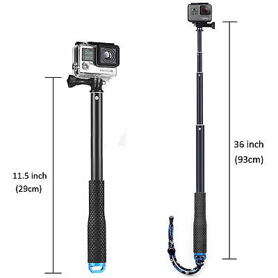 """36"""" Waterproof Extension Pole Selfie Stick for GoPro Hero/Session 6 5 4 3+ 3 2 1 6"""