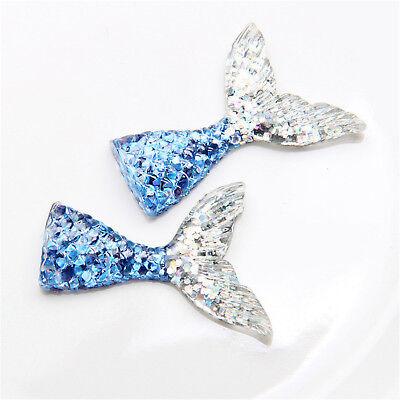 10pcs/lot kawaii resin mermaid tail DIY flatback resin cabochons accessories 8