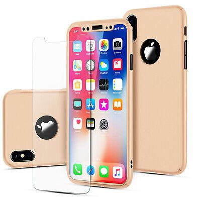 Coque 360 pour iPhone XS Max XR 6s 7 8 Plus 5 5S SE Protection Antichoc + Verre 8