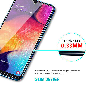 Samsung Galaxy A20 A30 A50 Premium Full Cover Tempered Glass Screen Protector 6