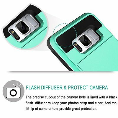 Shockproof Wallet Credit Card Holder Protective Case Cover Fits Samsung Galaxy 7