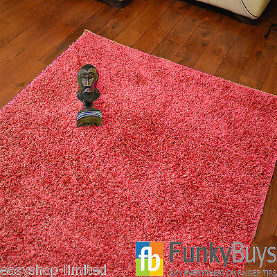 Small Large XL Size Thick Plain Soft Shaggy Rugs Non Shed Modern High Pile 9
